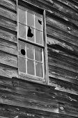 Old window in grist mill