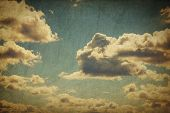 picture of wall cloud  - Vintage sky with clouds - JPG