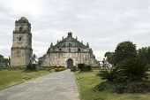 foto of luzon  - paoay church in illocos norte northern luzon in the philippines dating from 1694 and built from blocks of coral by the spanish - JPG