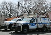 NYPD emergency service vehicles ready to help in Staten Island, NY