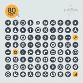 foto of orientation  - Set of arrow icons for web and mobile applications - JPG