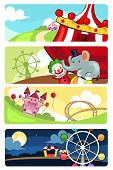 Amusement Park Banners