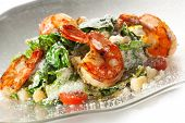 image of caesar salad  - Seafood Caesar Salad with Shrimps - JPG