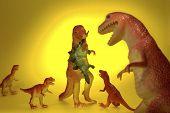 Постер, плакат: Динозавр семейный ужин