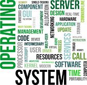 picture of interrupter  - A word cloud of operating system related items - JPG