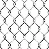 stock photo of chain  - Seamless Chain Fence - JPG