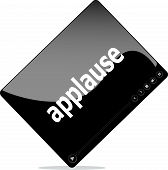 pic of applause  - Video movie media player with applause word on it - JPG