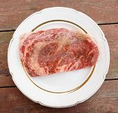 stock photo of wagyu  - Premium quality ribeye steak - JPG
