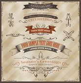 foto of prospectus  - Illustration of vintage grunge banners and ribbons for invitation documents background season - JPG