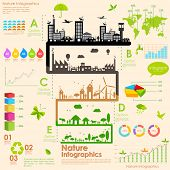 stock photo of sustainable development  - illustration of tree in sustainability infographic - JPG