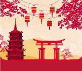 picture of prosperity sign  - Chinese New Year card  - JPG