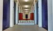 stock photo of self-storage  - illustration of a modern self storage interior - JPG
