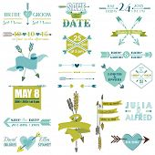 stock photo of feathers  - Wedding Graphic Set - JPG