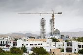 picture of oman  - Picture of a Mosque under construction in Muscat Oman - JPG