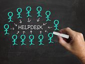 image of helpdesk  - Helpdesk On Blackboard Meaning Customer Support Help And Assistance - JPG