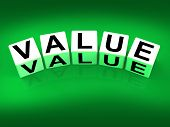 foto of significant  - Value Blocks Representing Importance Significance and Worth - JPG