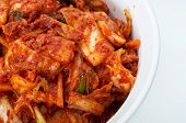 picture of kimchi  - korean cuisine fermented food Kimchi on white ceramic bowl - JPG