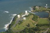 stock photo of greater antilles  - Aerial view of Radome antenna at Punta Salinas radio station North west of Puerto Rico - JPG