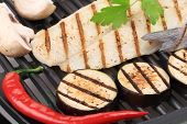 stock photo of pangasius  - Grilled fillet of pangasius - JPG