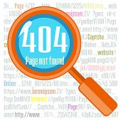 stock photo of not found  - Concept of not found error message with text and lens - JPG