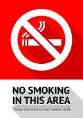 picture of ban  - Label No smoking sticker - JPG