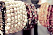 stock photo of bangles  - multiple bead bangles in surajkund fair retro style - JPG