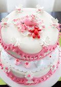 picture of christening  - Christening cake for baby girl - JPG