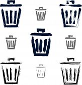 stock photo of dustbin  - Set of hand - JPG
