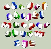 foto of verbs  - 3d futuristic font - JPG