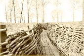 picture of world war one  - world war one trench belgium flanders bayernwald - JPG