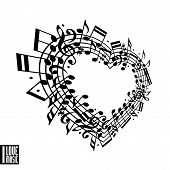 foto of clefs  - I love music concept - JPG