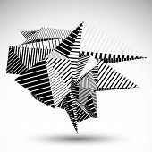 picture of cybernetics  - Cybernetic contrast element constructed from geometric figures with parallel lines - JPG