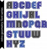 pic of verbs  - Regular stylish font with straight lines only - JPG