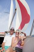 pic of summer fun  - The sailor couple enjoy sailing with the cruising chute in the summer - JPG