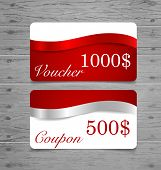 stock photo of coupon  - Gift Cards - JPG