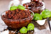 picture of pesto sauce  - Fresh made Tomato Pesto  - JPG