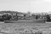 foto of sevastopol  - Warships in the bay of Sevastopol - JPG