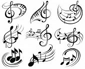 pic of g clef  - Music vector symbols - JPG