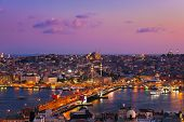 picture of cupola  - Istanbul sunset panorama  - JPG