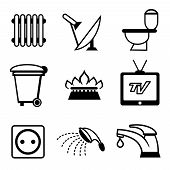 picture of sewage  - utilities icons - JPG