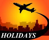 picture of time flies  - Holidays Plane Representing Go On Leave And Time Off - JPG