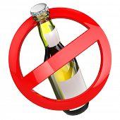 image of alcoholic beverage  - No alcohol sign - JPG