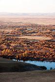 foto of wetland  - The genhe river of hulun buir wetland in China - JPG