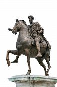 Ancient Roman Equestrian Statue Isolated poster