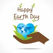 image of save earth  - creative happy earth day greeting design vector - JPG