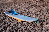foto of modifier  - Handmade Modified Surf Board into a Kayak Boat - JPG