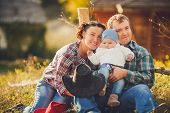 picture of threesome  - Young family - JPG