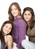 stock photo of sissi  - beautiful females portrait over white - JPG