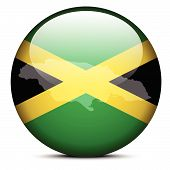 picture of jamaican flag  - Vector Image  - JPG