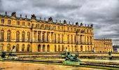 stock photo of versaille  - View of the Palace of Versailles - France